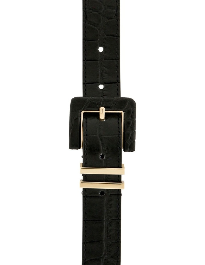 2.5cm Black Croc Buckle Belt image 1