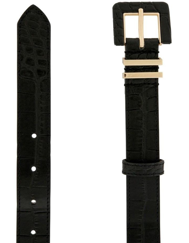 2.5cm Black Croc Buckle Belt image 2