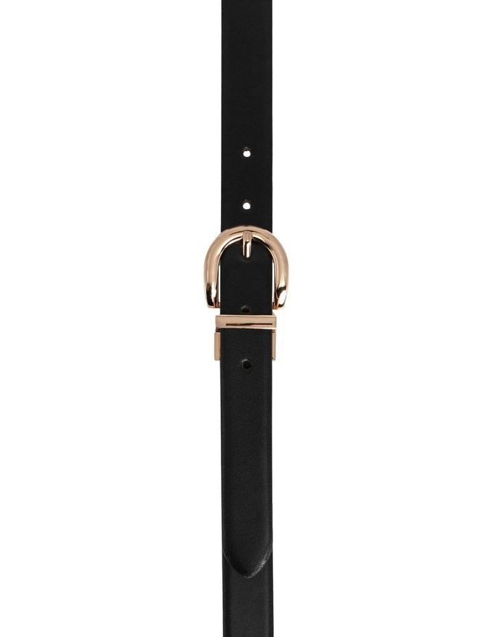 Basque Black/Tan Leather Westwood Belt image 1