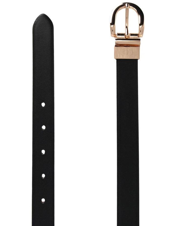 Basque Black/Tan Leather Westwood Belt image 2