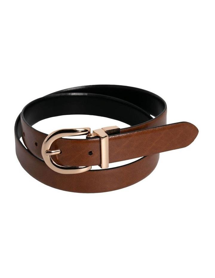 Basque Black/Tan Leather Westwood Belt image 4
