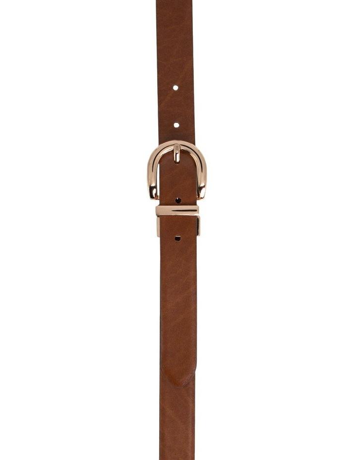 Basque Black/Tan Leather Westwood Belt image 5
