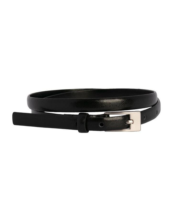 Black Leather/PU Saxon Belt image 1