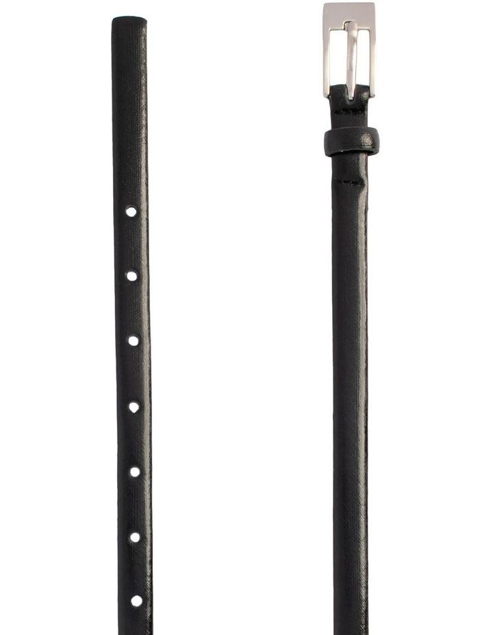 Black Leather/PU Saxon Belt image 2