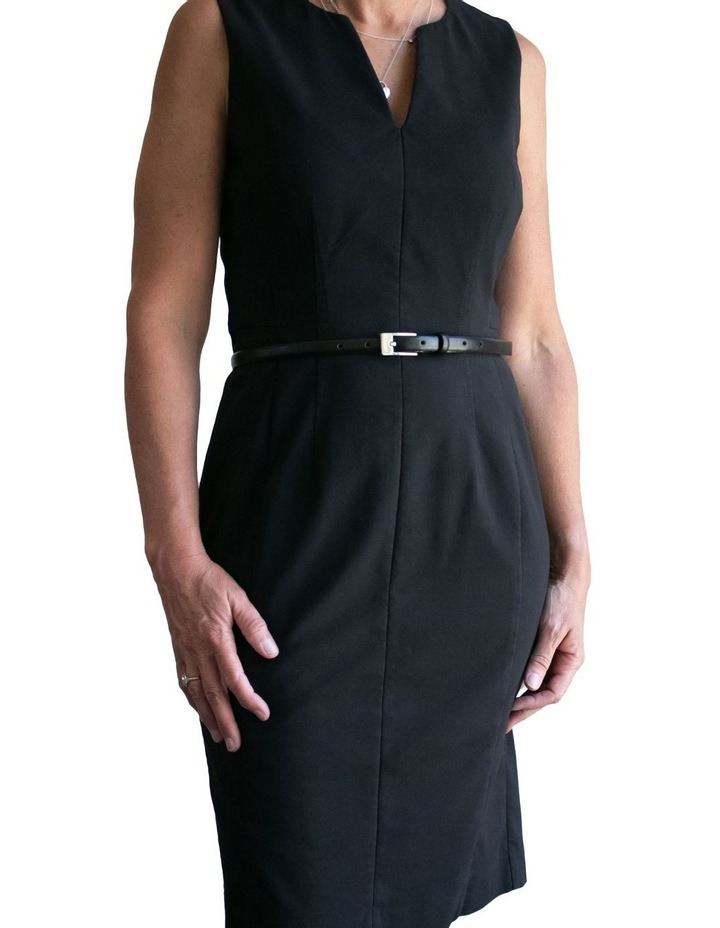 Black Leather/PU Saxon Belt image 4