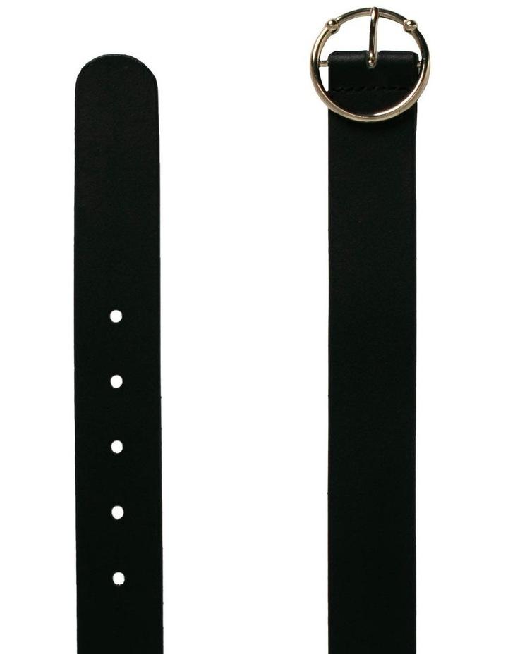 Black Leather Virginia Belt image 2