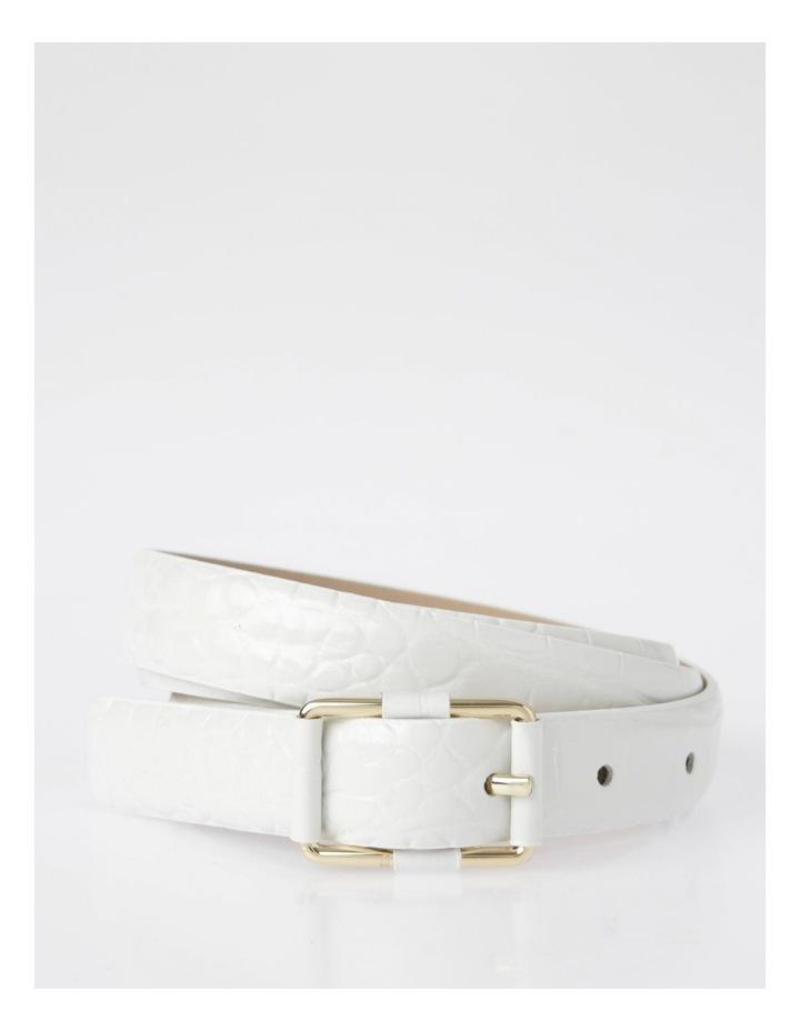 Slim Croc Rectangular Buckle Belt image 1