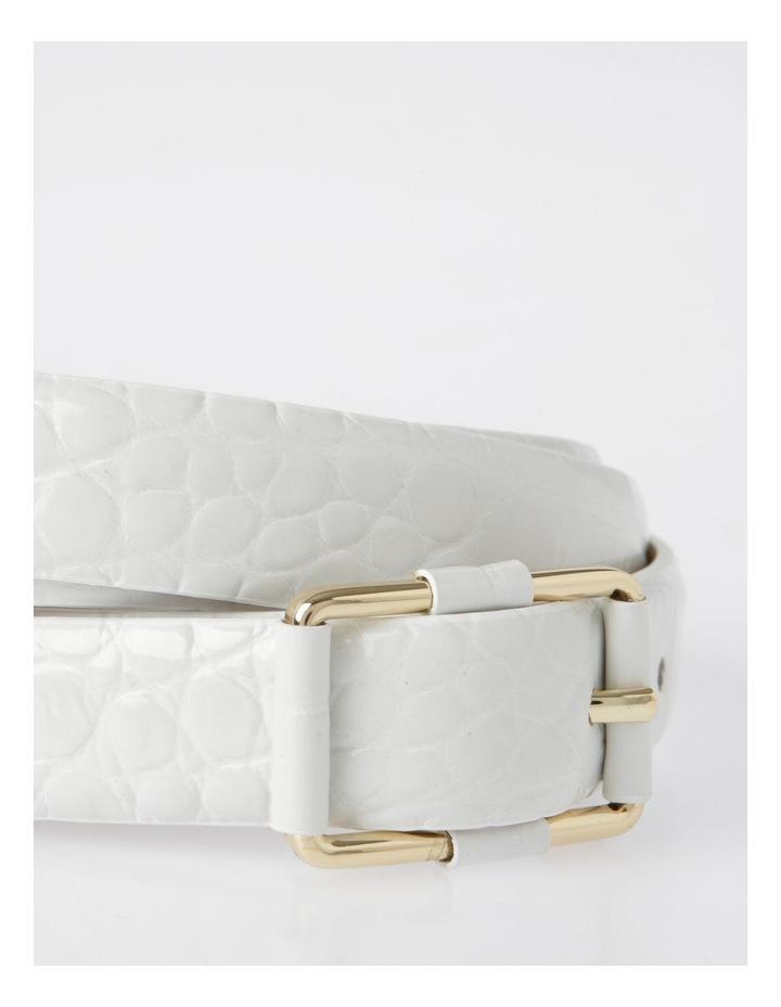 Slim Croc Rectangular Buckle Belt image 2