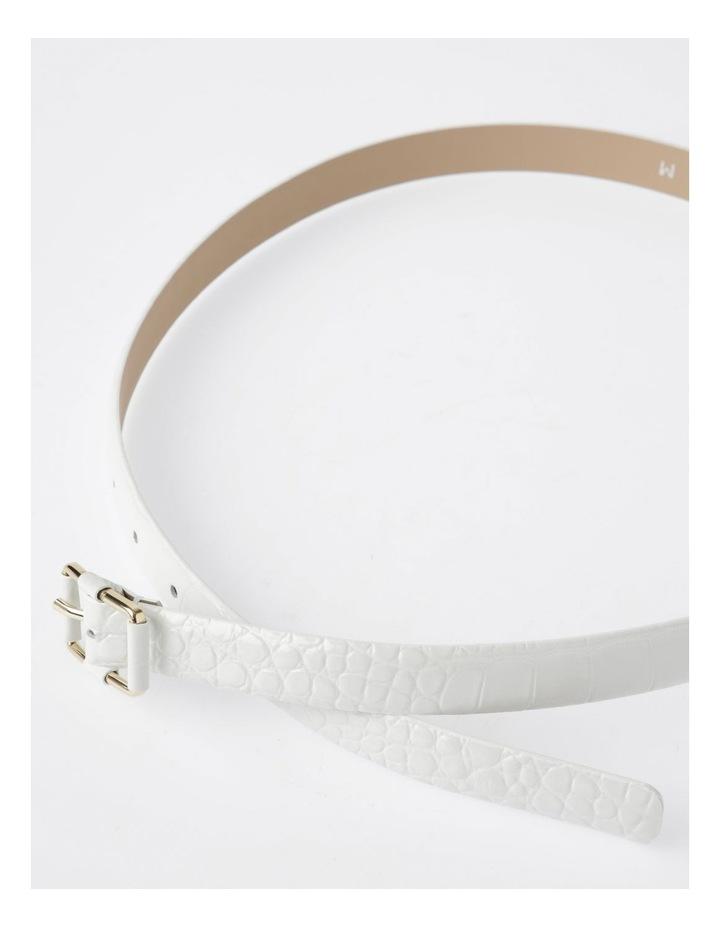 Slim Croc Rectangular Buckle Belt image 3
