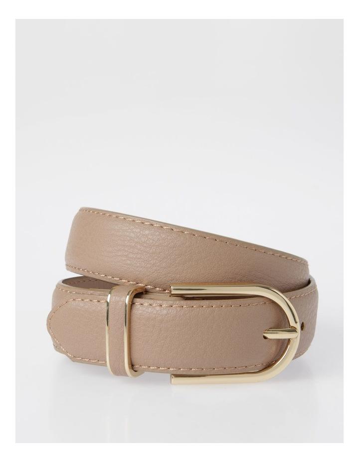 DTP19-P568-28D Skinny Gold Buckle Belt image 1