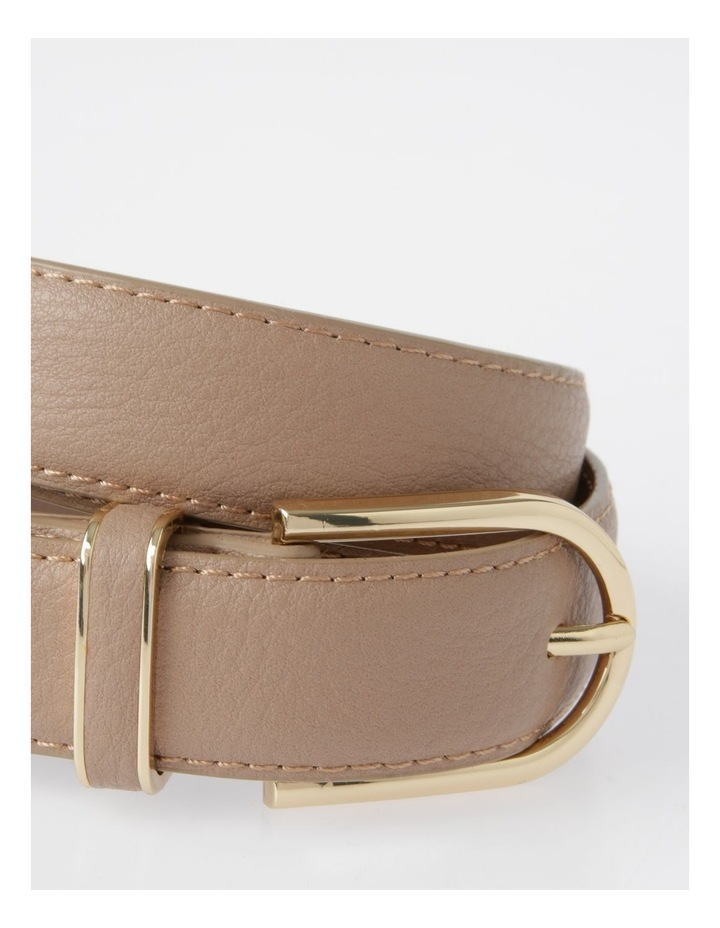 DTP19-P568-28D Skinny Gold Buckle Belt image 2