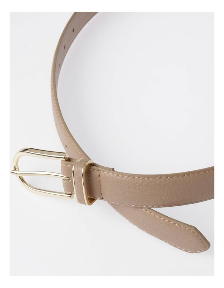 DTP19-P568-28D Skinny Gold Buckle Belt image 3