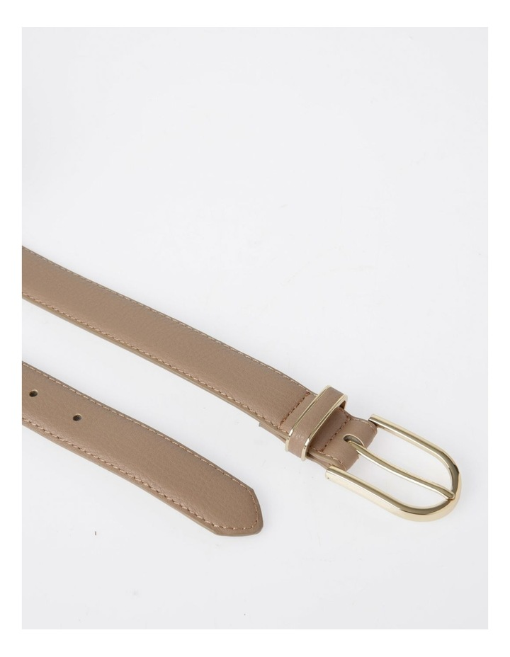 DTP19-P568-28D Skinny Gold Buckle Belt image 4