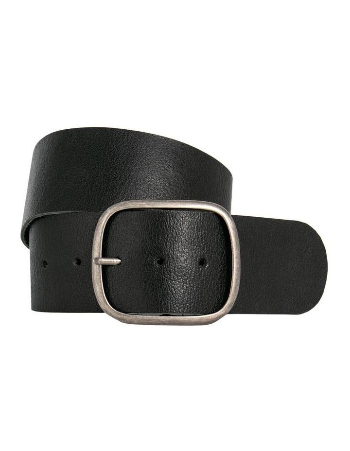 Trent Nathan Melrose Black Leather Waist Belt image 1