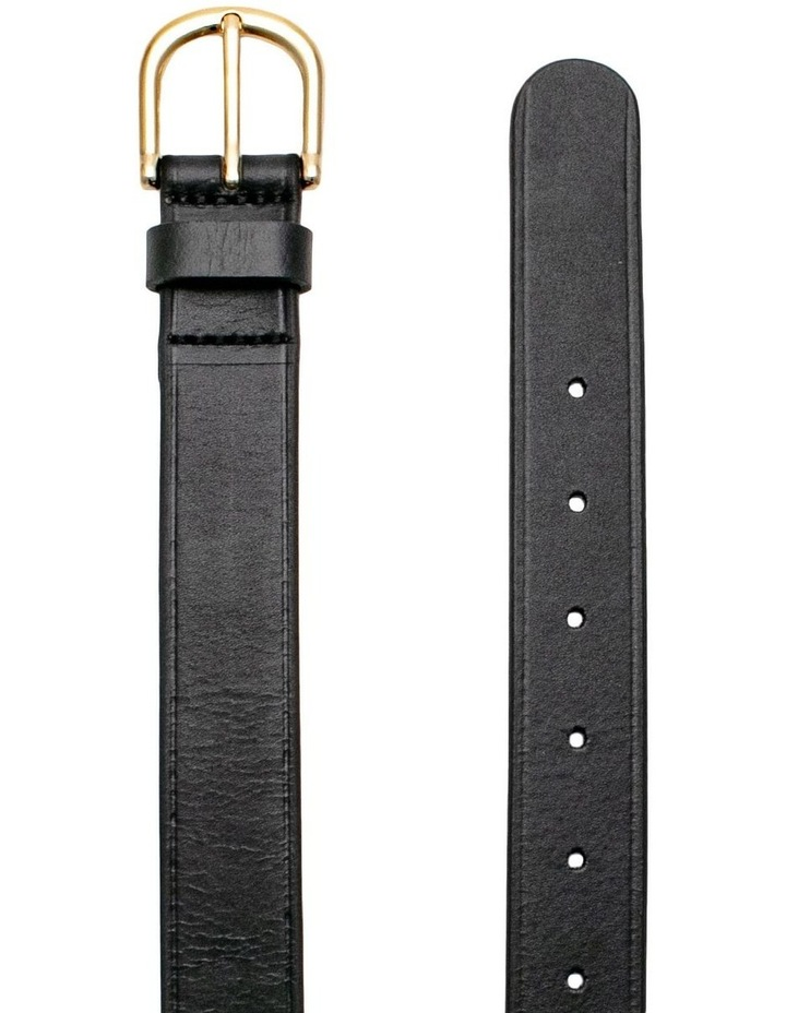 Briscoe Lane Black Leather Belt image 2
