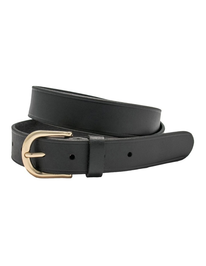 Briscoe Lane Black Leather Belt image 3