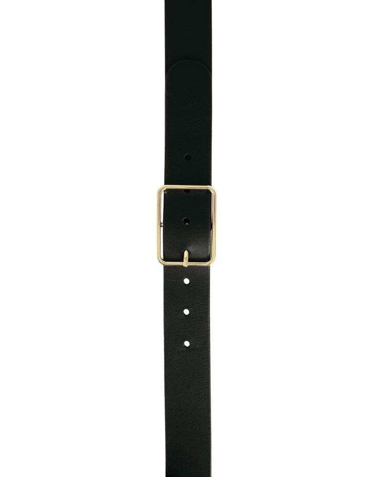 Tess Black Leather Belt image 3