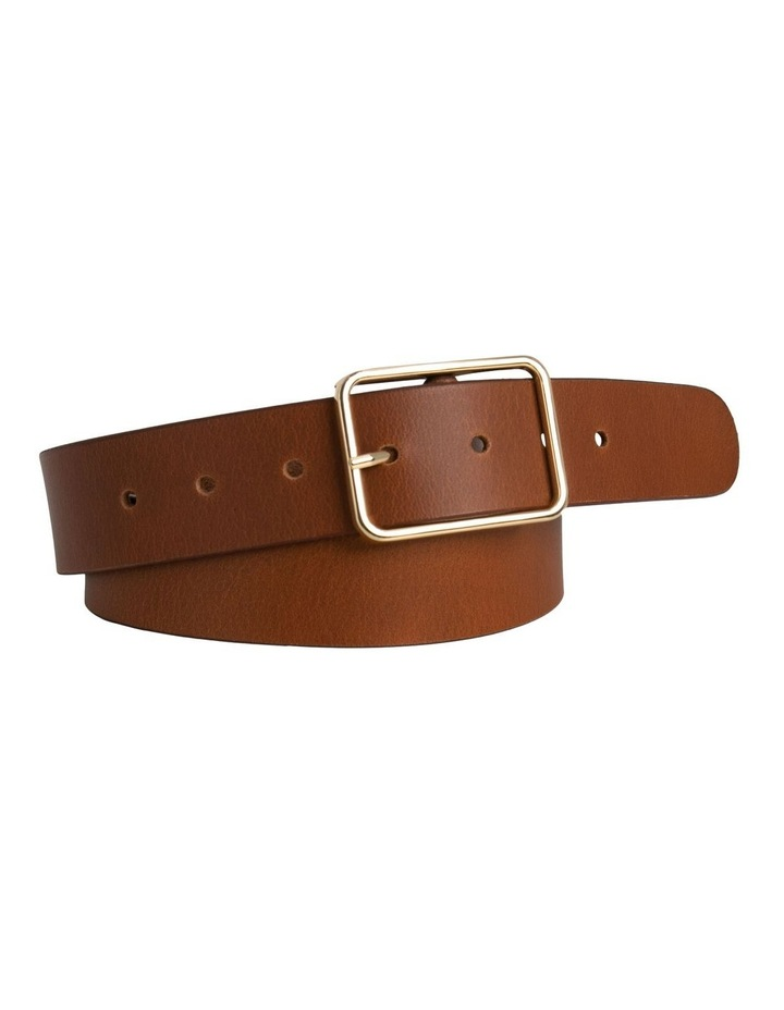 Tess Tobacco Tan Leather Belt image 1