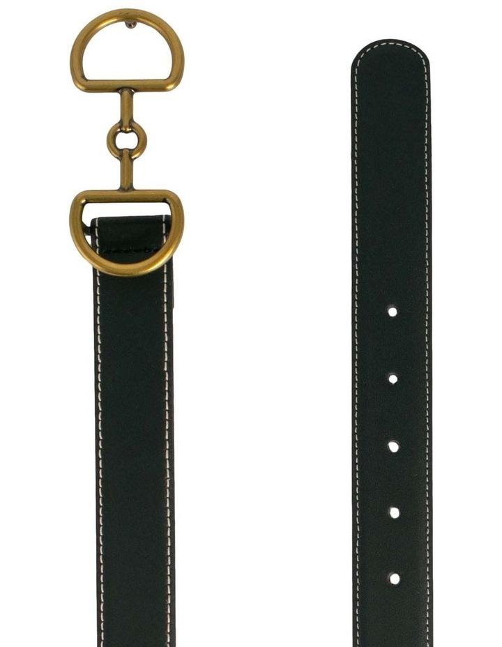 Trent Nathan Bonny Black Leather Belt image 2