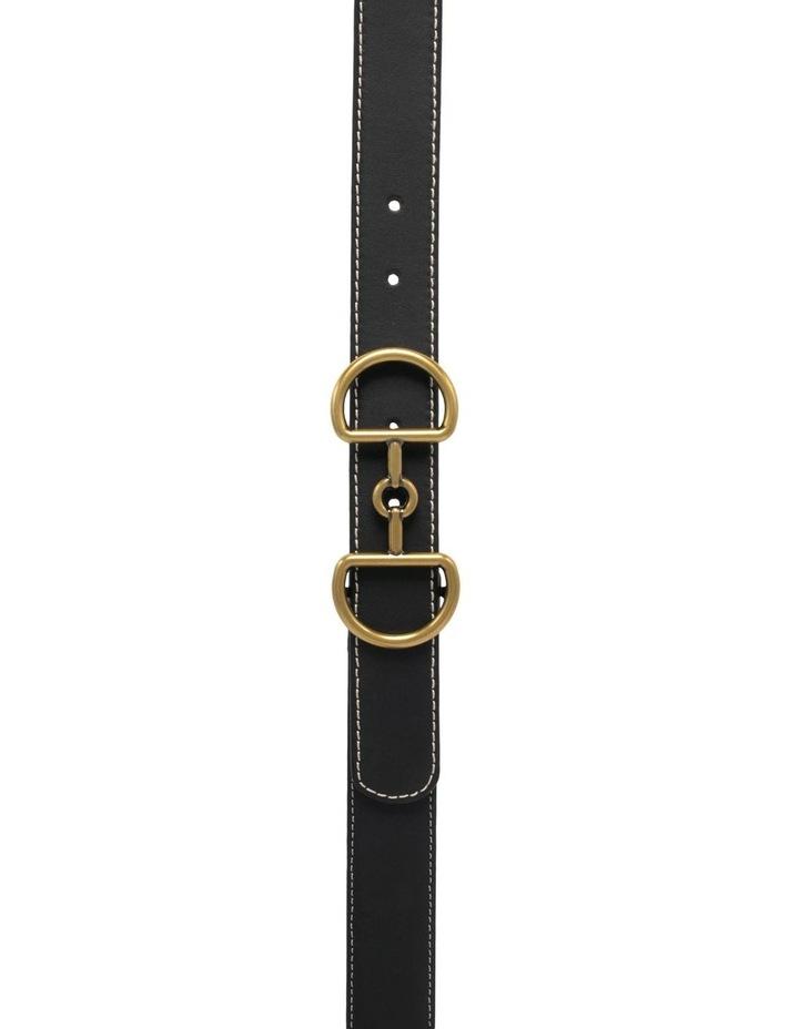 Trent Nathan Bonny Black Leather Belt image 4