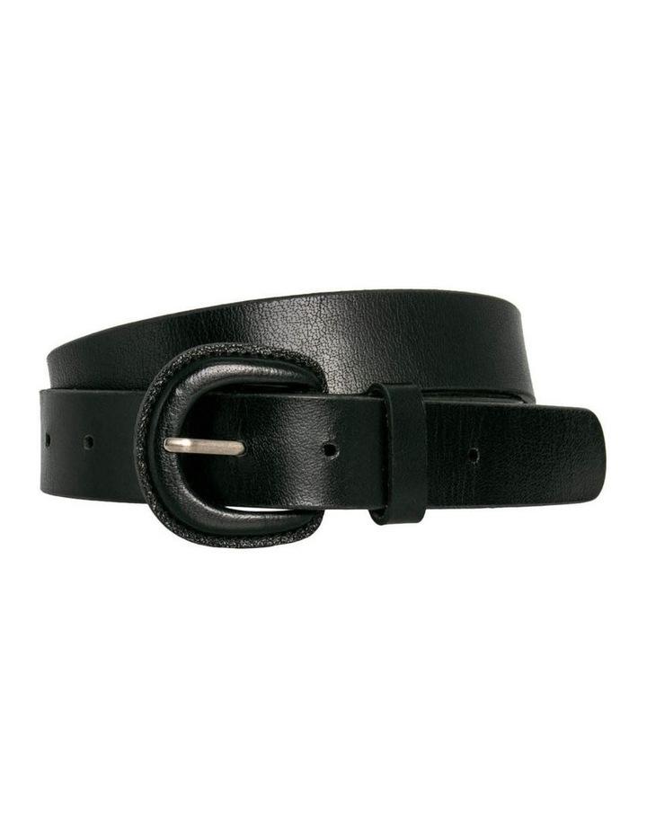 Kelly Black Leather Belt image 1
