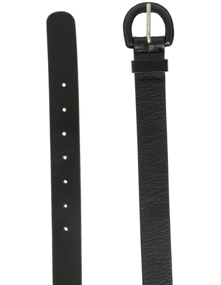 Kelly Black Leather Belt image 2