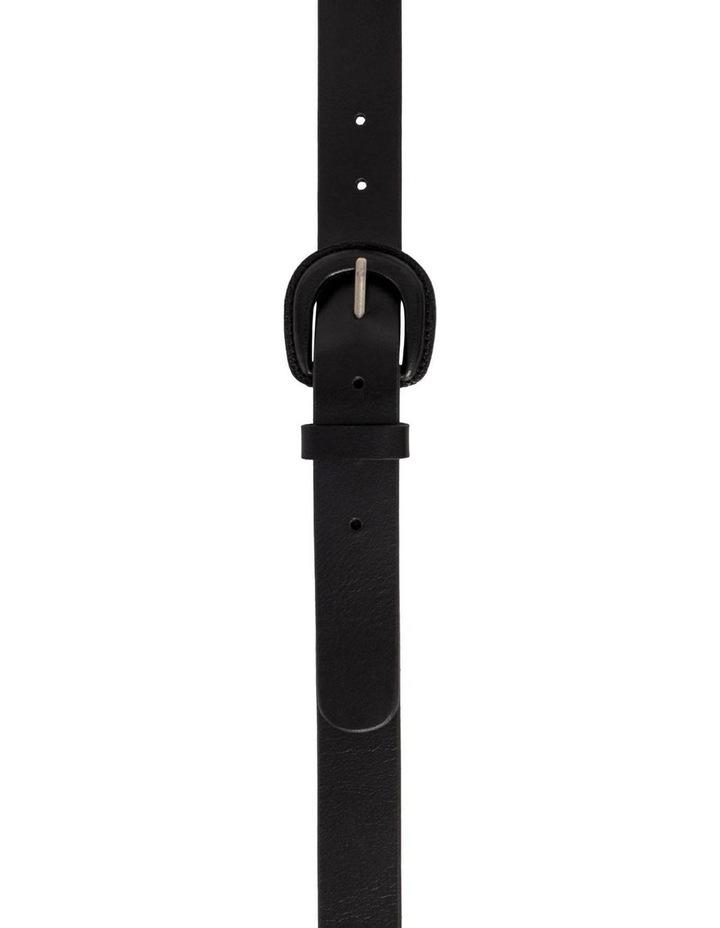 Kelly Black Leather Belt image 5