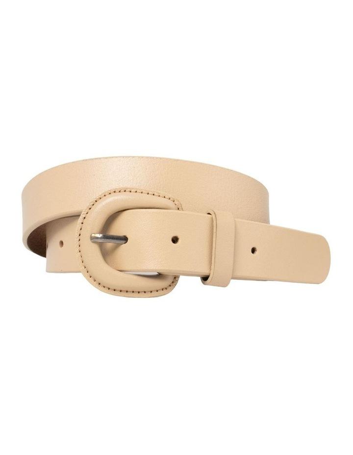 Kelly Taupe Leather Belt image 1
