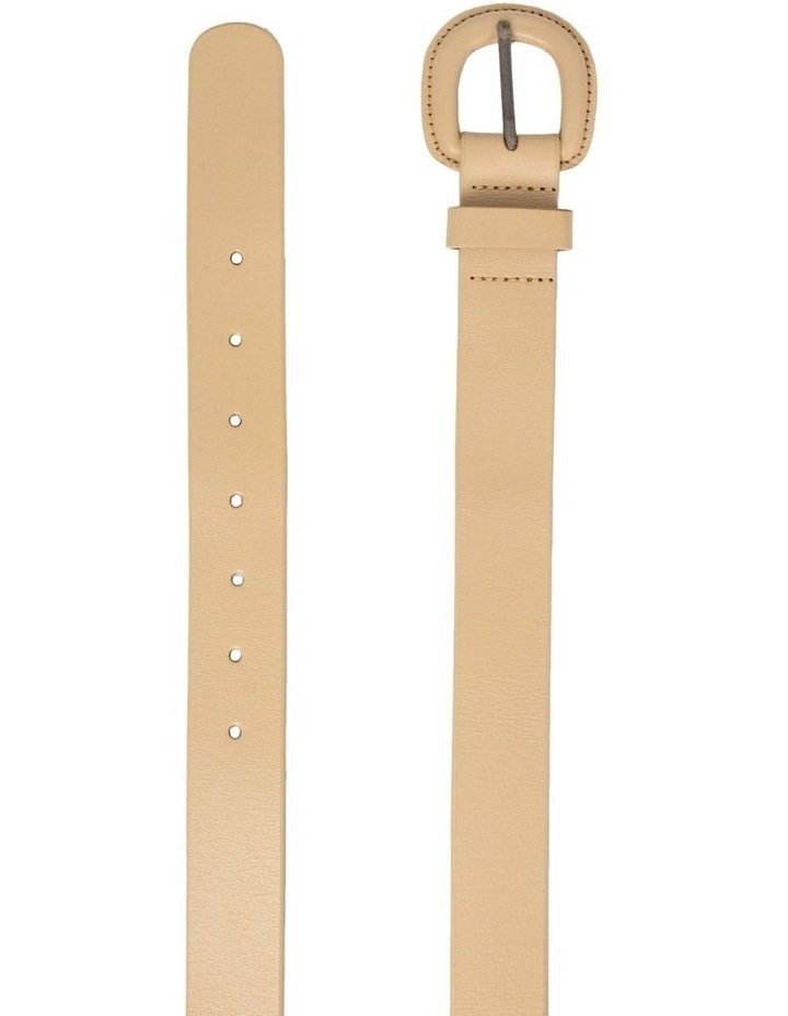 Kelly Taupe Leather Belt image 2