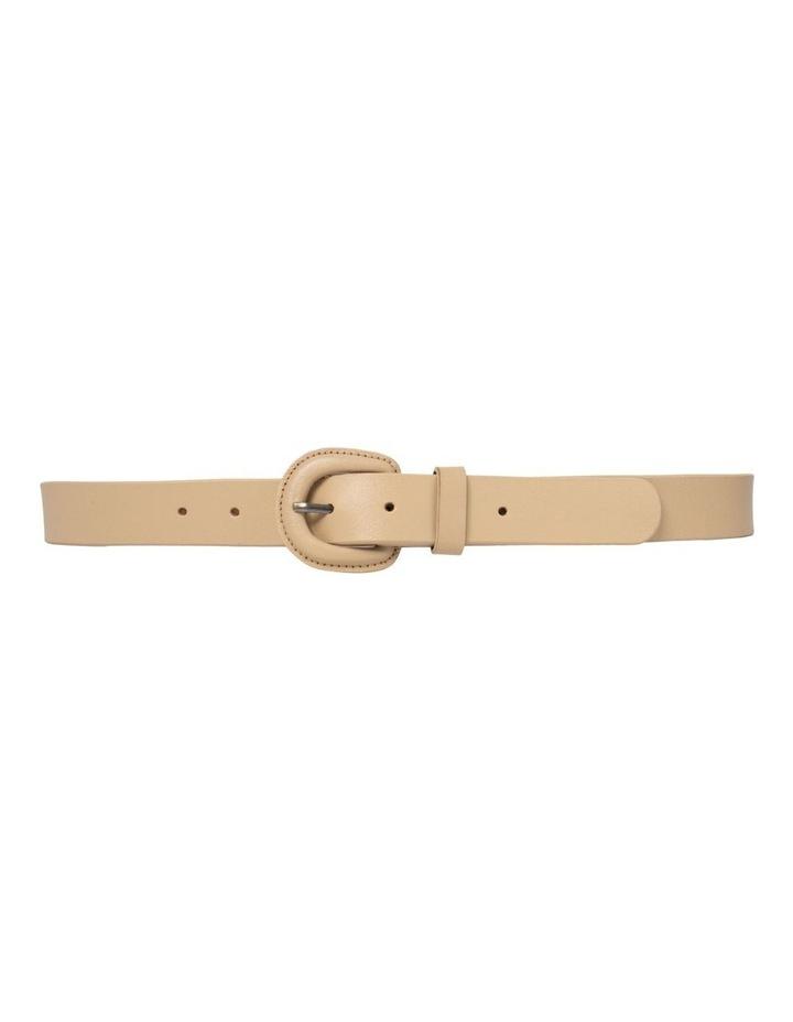 Kelly Taupe Leather Belt image 4