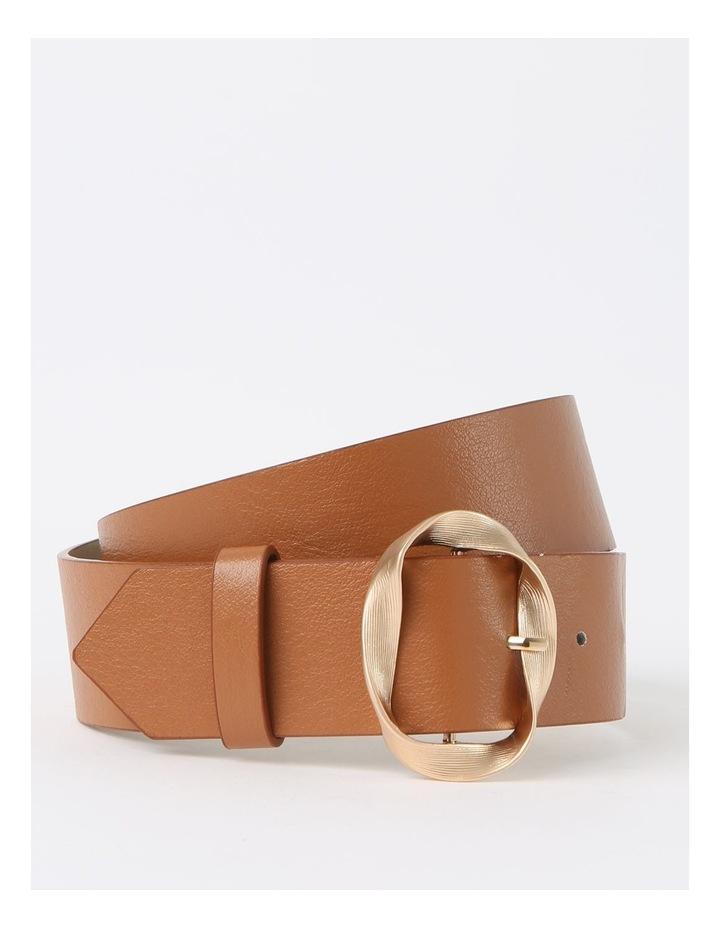Twisted Tan Buckle Belt image 1