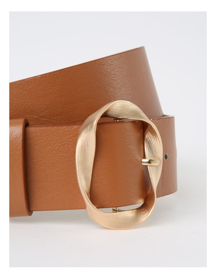 Twisted Tan Buckle Belt image 2
