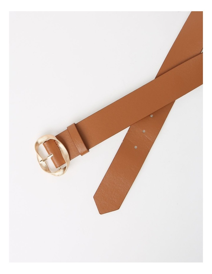 Twisted Tan Buckle Belt image 3