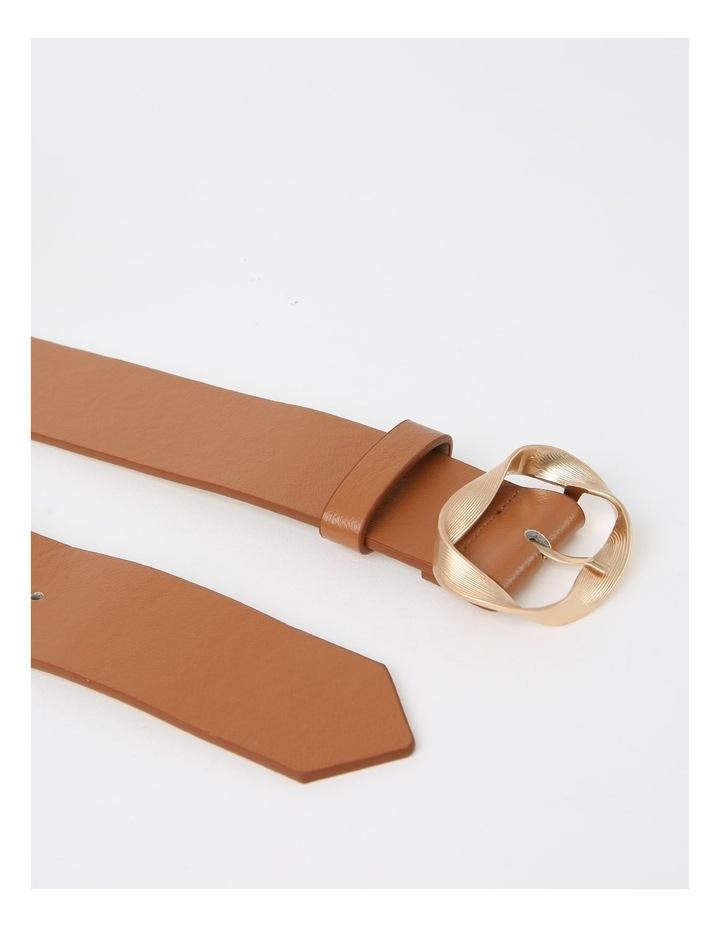 Twisted Tan Buckle Belt image 4