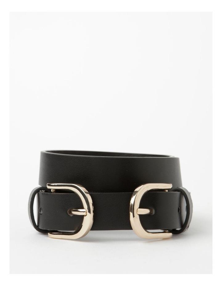 Double Black Buckle Belt image 1