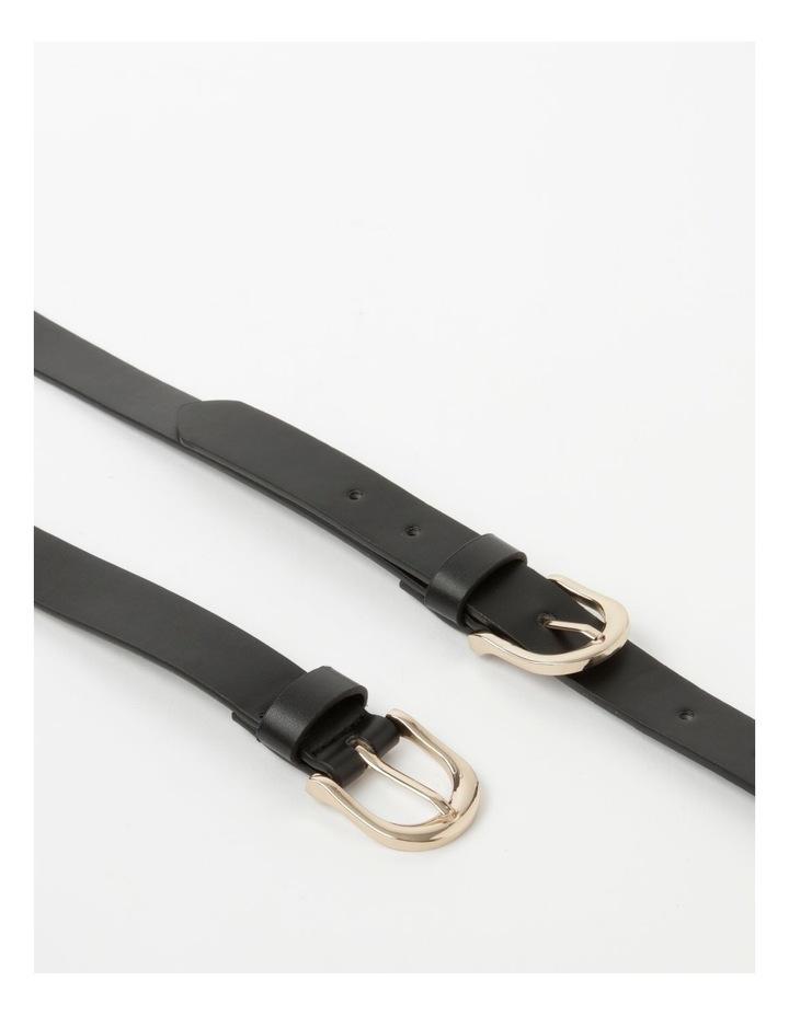 Double Black Buckle Belt image 3