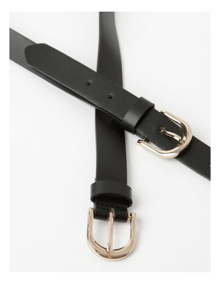 Double Black Buckle Belt image 4