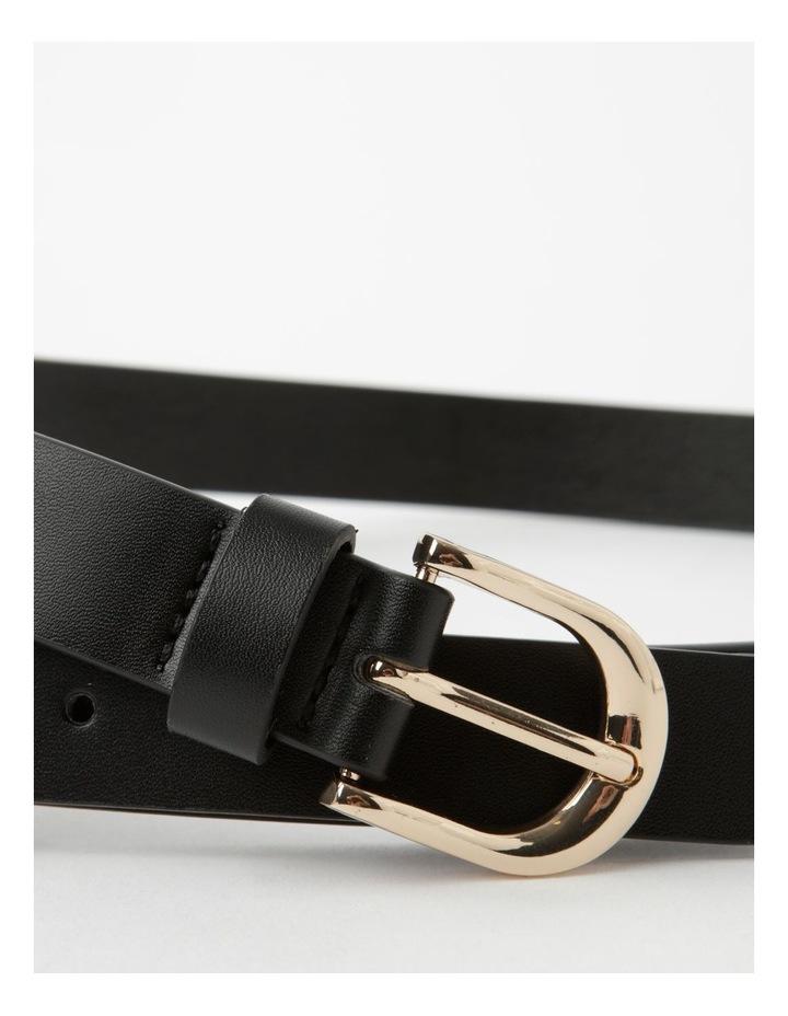 Double Black Buckle Belt image 5