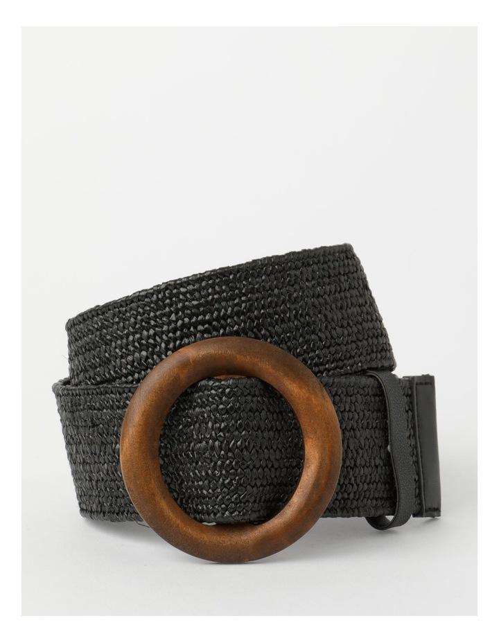 Contrast Black Buckle Belt image 1