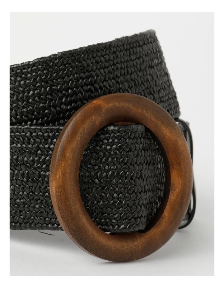 Contrast Black Buckle Belt image 2
