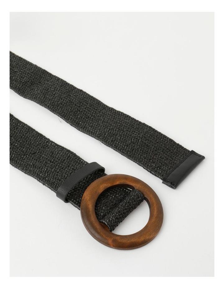 Contrast Black Buckle Belt image 3
