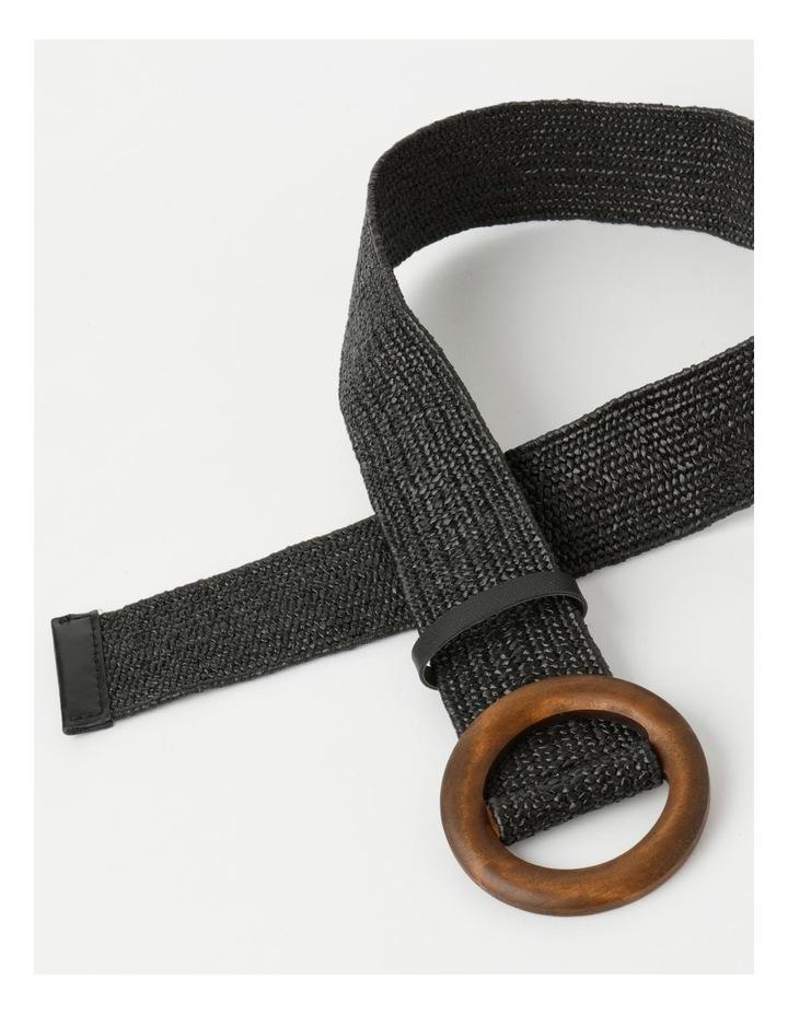 Contrast Black Buckle Belt image 4