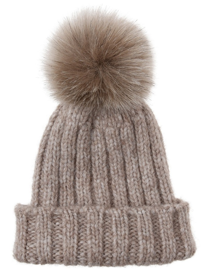 DUFFY Cable Knit Beanie 2821 image 1