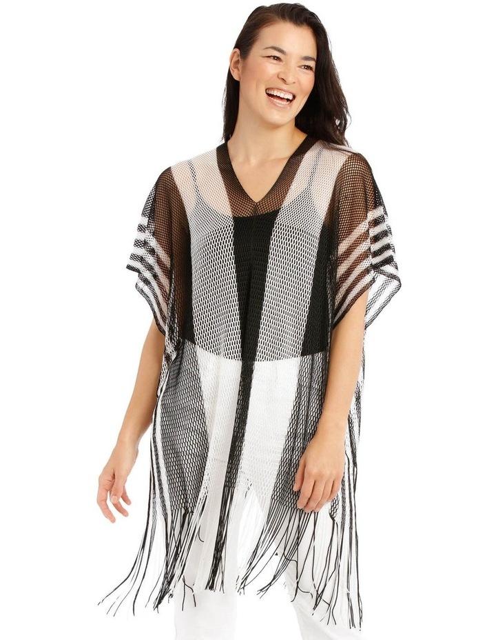 Black And White Stripe Kaftan image 1