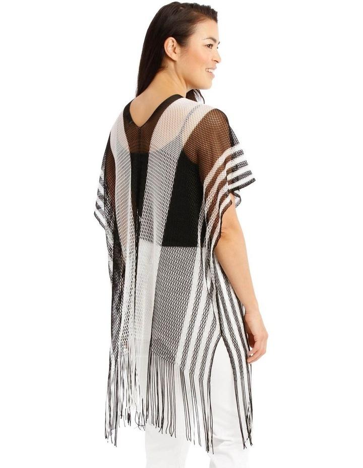 Black And White Stripe Kaftan image 2