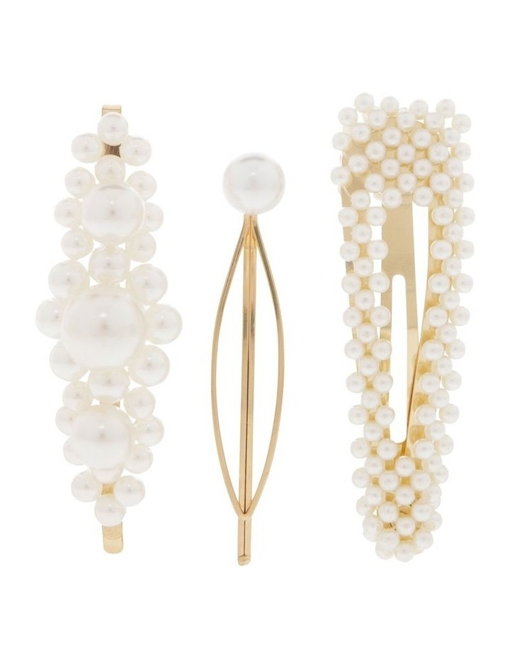 Pack of 3 Pearl Clips image 1