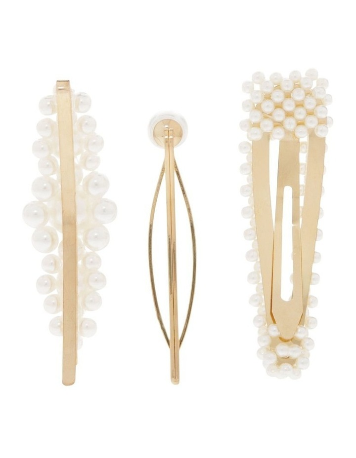 Pack of 3 Pearl Clips image 2