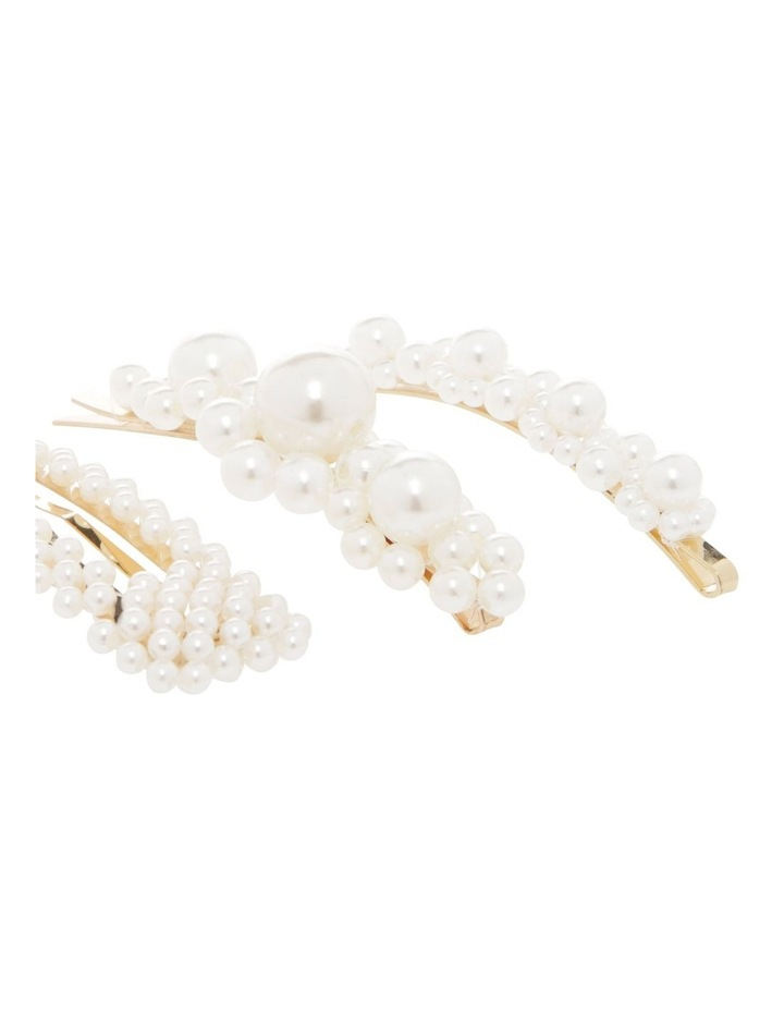 Set of 3 Pearl Clips Hair Accessory image 3