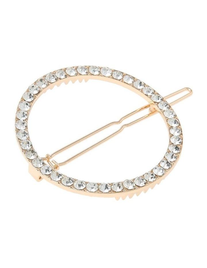 2 Pack Round Pearl & Diamante image 2