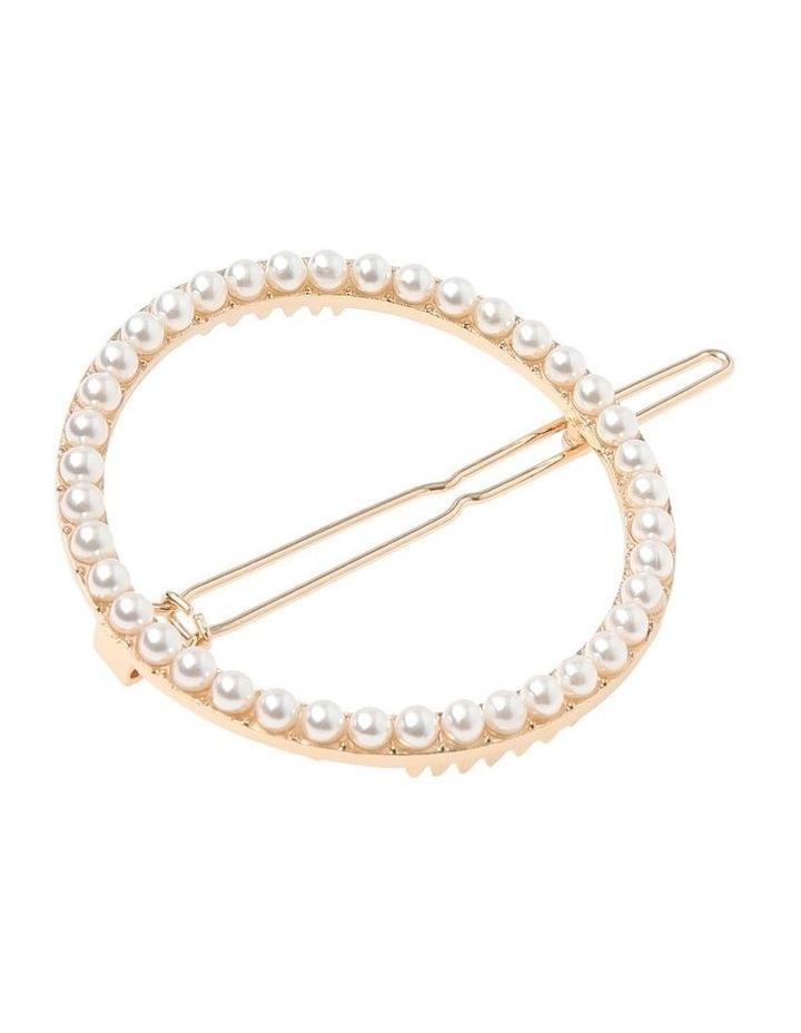 2 Pack Round Pearl & Diamante image 3